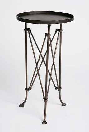 Metal Accordion Side Table, $60.
