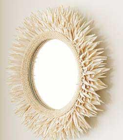 Round Coco Mirror (as in coconut sticks), $199.