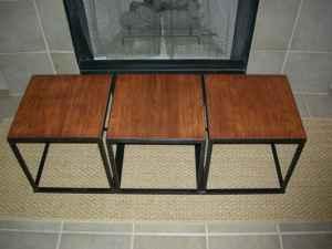 Three bunching tables, $55 (ea? set?)