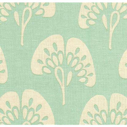 Gingko fabric in aqua, $30/yard (reg. $60/yard)