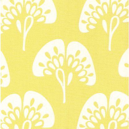Gingko fabric in citron
