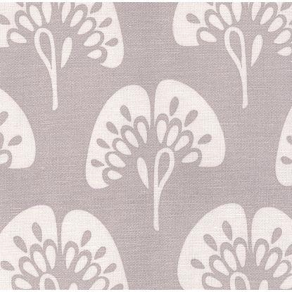 Gingko fabric in platinum