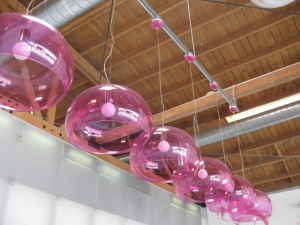 Kartell pendant lights, $125 ea.