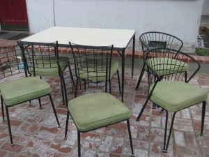 Retro outdoor furniture, $150.