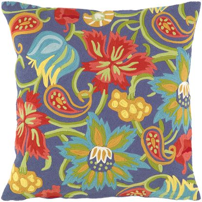 Tuileries Pillow in Ultramarine