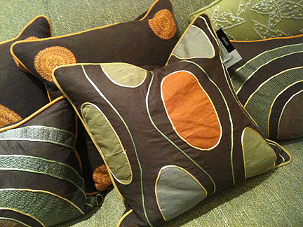 Funky pillow, $55.