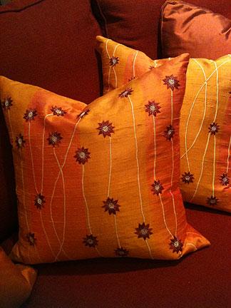 Silk pillow, $59.