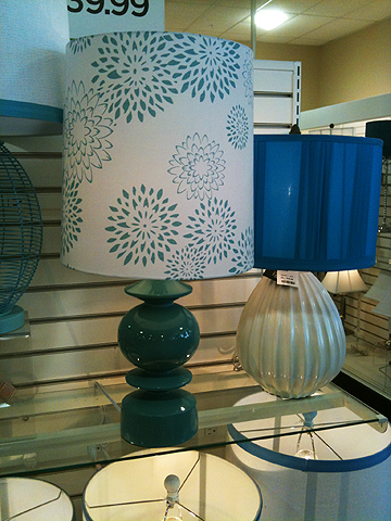 Both lamps were cute, but you'd have to replace the old lady shade on that lamp on the right.  $39.99 ea.