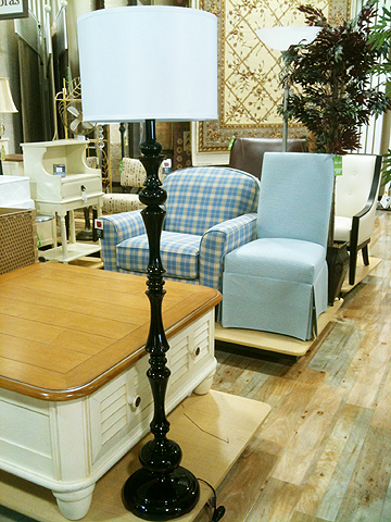 Ignore all the fugly in the background and go toward the light.  Floor lamp, $79.99.