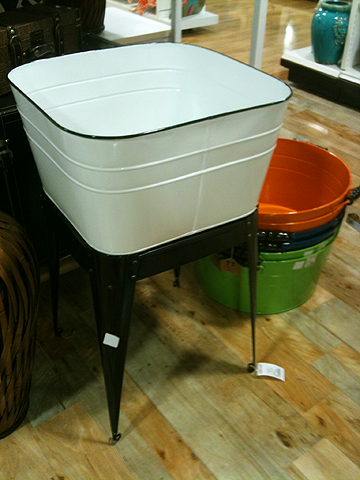 Vintage-inspired tub stand, $69.99.