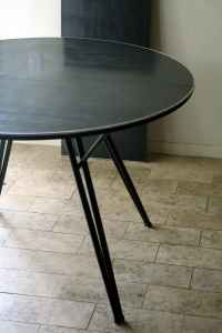 Retro dining table with leaf, $95.