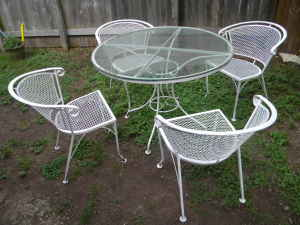 Mid-century patio set, $150.