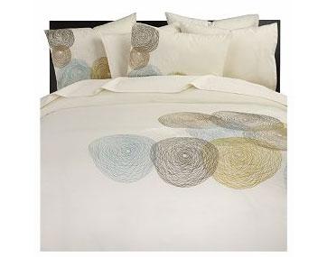 Doodle bed linens, $29.95-129.