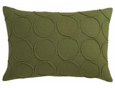 "Bottlecap green pillow 18""x12"" pillow, $24.95."
