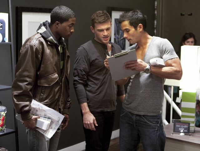 Alex Sanchez, Michael Moeller and Courtland Bascon work out their design plan during the fourth episode.