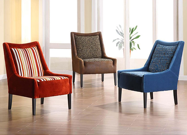 Chenille Club Chairs, $329.49.