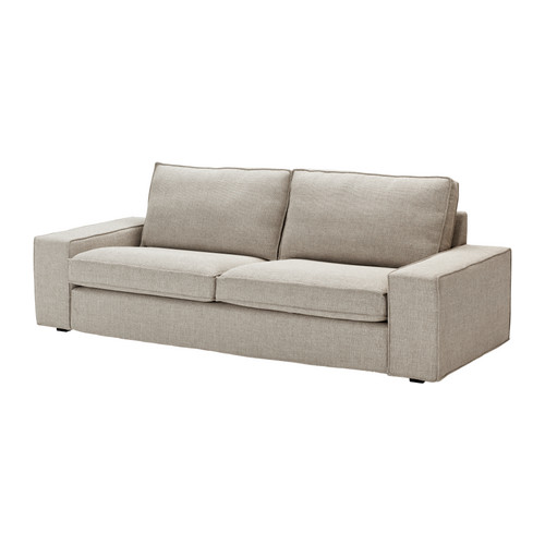 "Curiously, the new KIVIK sofa (width 89.75"") is listed for $399 in the catalog, but $599 online.  Features a layer of memory foam in the seat cushions."