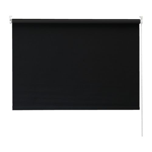 Finally, an inexpensive roller blind in sophisticated black or gray. $14.99-54.99.