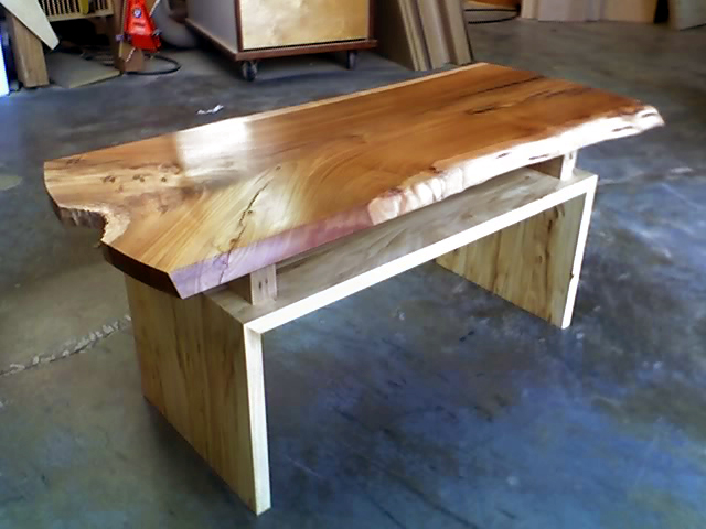 Chinese Elm bench by David Brotman.