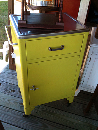 Metal cabinet from dentist's office, $145.