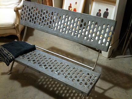 Modern garden bench, $435.