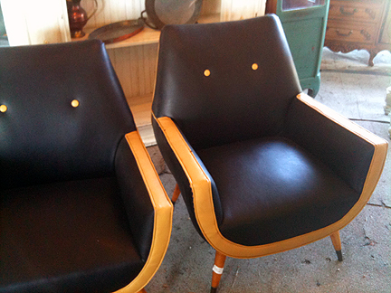 Pair of mid-century chairs, $250.