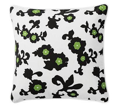 Black Gardenia Pillow, $88.