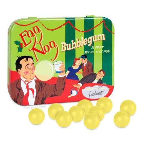 Egg Nog Bubblegum, $3.50.