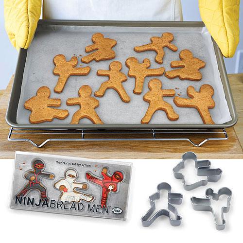NinjaBread Men Cookie Cutters, $9.95.