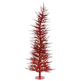 Colored Laser Tree in red, $39-$129.