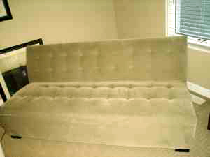 Tufted Crate & Barrel sofa, $150.