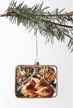 TV Dinner Ornament, $12.