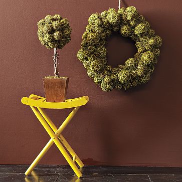 Faux Moss Wreath, $49.