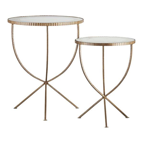 Jules Accent Tables, at Crate & Barrel. $449/set of 2.