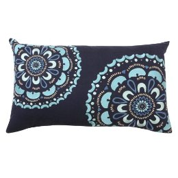 Home Medallion Pillow in Blue, from Target. $14.99.