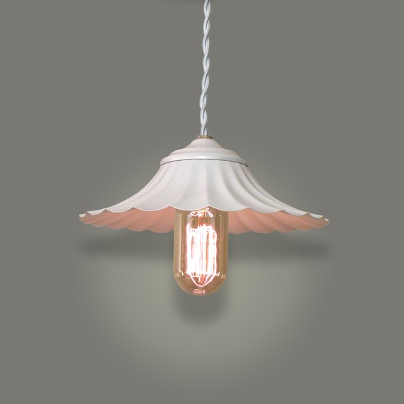 Vintage Minimalist Pendant w/Fluted Shade, by Kam Lamp Company. $125.