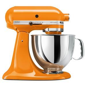 KitchenAid Orange Artisan Stand Mixer. $299.95 at Sur La Table.