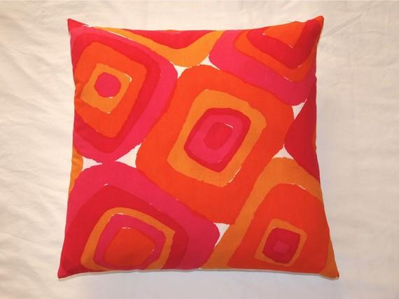 Vintage Vera Neumann napkin pillow, by Sayso Design. $38.