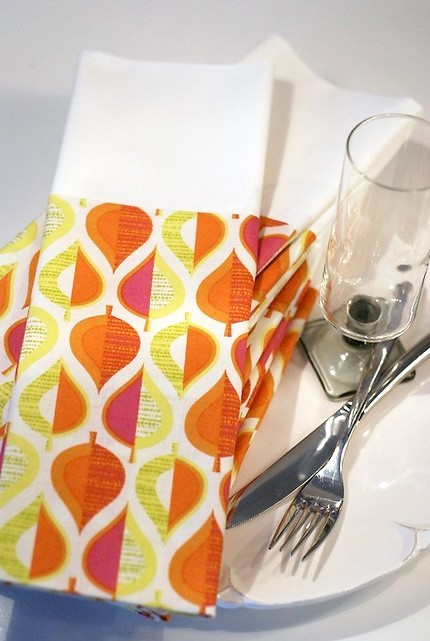 Dinner napkins by Creative Chics Home. $16/set of four.