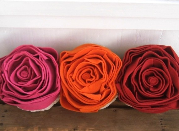 Rose of Many Colors pillow, by pillowhappy. $50.