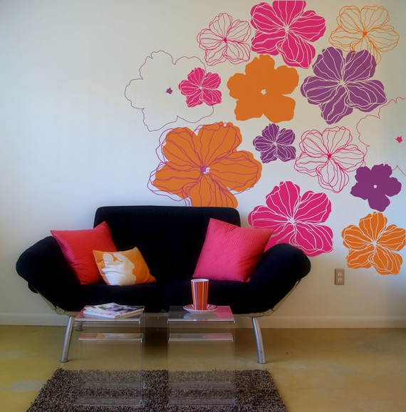 Camellia wall decals, by Lana Kole. $75.