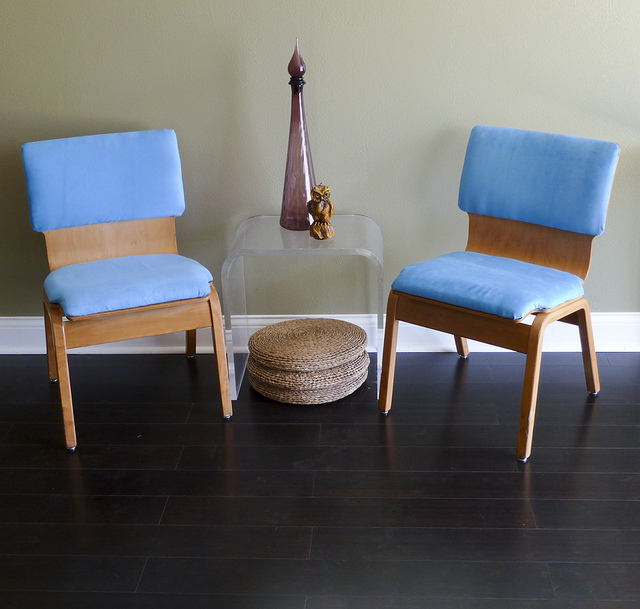 Pair of bentwood chairs, $125.