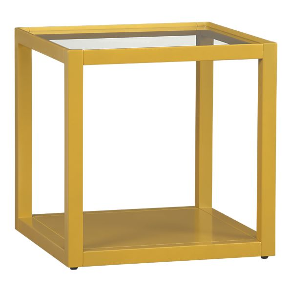 Mimic Cube in Lemongrass, $79.95.  Also available in Plum, Smoke, White, Black, and Walnut.