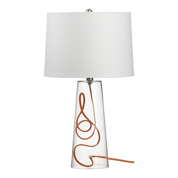 Mack table lamp with orange cord