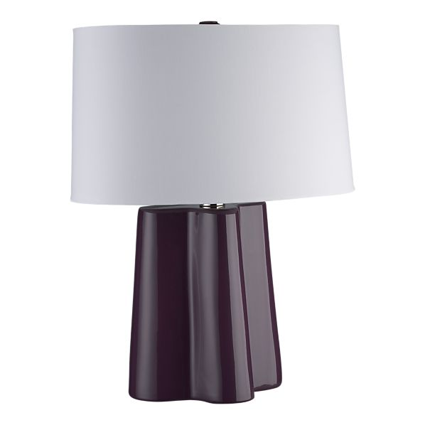 Swell Table Lamp in Plum.  Also available in Peacock.