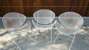 Set of 3 patio chairs, $30!