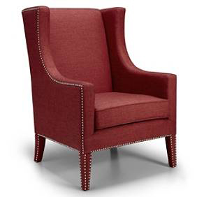 Bromley Wing Chair, $399.  Also available in Seaglass Blue and Rich Brown.