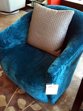 Sunshine Swivel Rocker, $599 (reg. $924).
