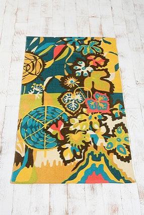 Urban Outfitters' Tropical Garden Printed Rug, $34.