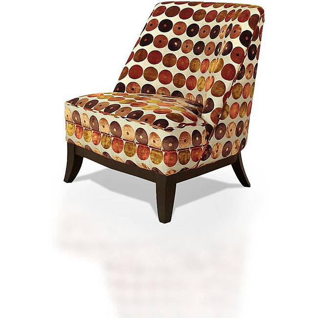 Club Chair Orange & Red Circles, $373.99.